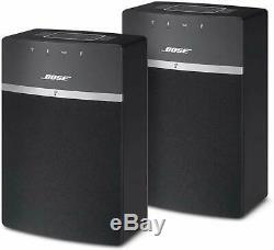 Bose Soundtouch 10 Wi-fi Deux Haut-parleurs Audio Tactile 10 2-pack Télécommande-noir