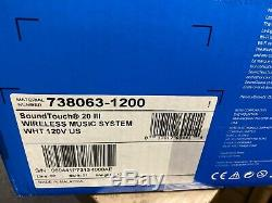 Bose Soundtouch 20 Series III Système De Musique Sans Fil Avec Télécommande, Blanc