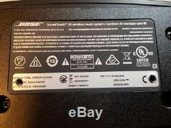 Bose Soundtouch 20 Wi-fi Music System Avec Moderate Wear Noir À Distance