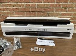 Bose Soundtouch 300 Soundbar Black System Usine Renouvelé / Avec La Boîte À Distance +