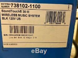 Bose Soundtouch 30 Wi-fi Music System-black-boîte D'origine, Télécommande, Câble, Usb, Etc.
