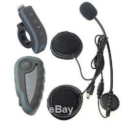 Casque De Moto 1200m Interphone Bluetooth À Distance Pour Casque Interphone V8 + Fm X3
