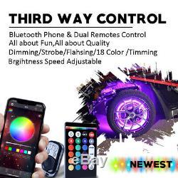 Changing Pro 17 Quatre Bluetooth Rgb-w Led Sans Fil De Roue Anneaux Lumières Couleur