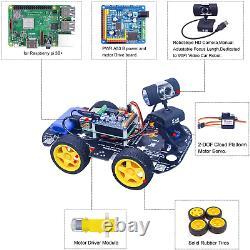 Ds Sans Fil Wifi/bluetooth Smart Robot Kit Voiture Pour Raspberry Pi 4b2gb, Distance Hd