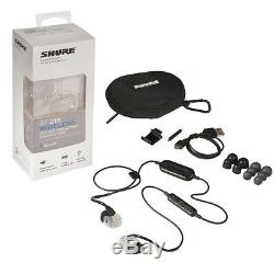 Écouteurs Bluetooth À Isolation Sonore Sans Fil Shure Se215, Clair, Avec Télécommande Et Micro