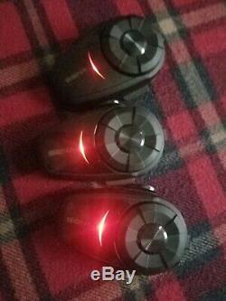 Ensemble De 3 Systèmes De Communication Bluetooth Pour Moto Sena 10s Avec Télécommande