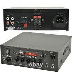 Extérieur Bluetooth Speaker Kit 2x White Karaoke/stereo Amp Garden Bbq Parties