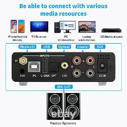 Fosi Audio Bluetooth Amplificateur De Classe D Hifi Stéréo Audio Amplificateur Et Télécommande Sans Fil