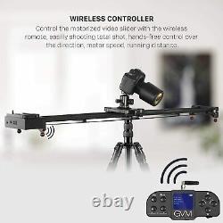 Gvm Wireless Vidéo Fibre De Carbone Moteur Caméra Slider Rail Bluetooth Remote 32inch