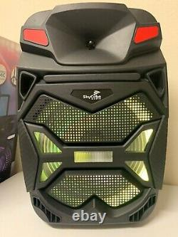 Haut-parleur Bluetooth 15 Skycube 12500watts P. M. P. O Wirelessmicrophone Stand Remot