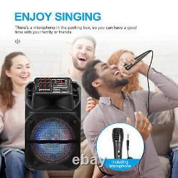 Haut-parleur Bluetooth Sans Fil Fm Aux Avec Microphone Et Télécommande