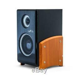 Haut-parleur Bluetooth Système Bois 5 Haut-parleurs 5 Canaux Sans Fil À Distance Radio Fm