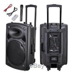 Haut-parleur De Sonorisation Audio Portable 1500w 15 Avec Microphone Sans Fil Bluetooth Usb