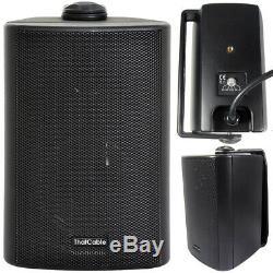 Haut-parleur Extérieur Bluetooth Kit 2x Noir Karaoke / Parties Ampli Stéréo Jardin Barbecue