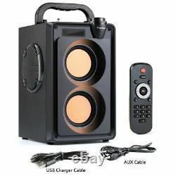 Haut-parleur Sans Fil 20w Radio Fm Portable À Distance Bluetooth Music Player