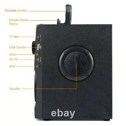 Haut-parleur Sans Fil Portable Fm Radio Aux Télécommande Stéréo Bluetooth Device