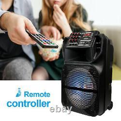 Haut-parleur Stéréo Bluetooth Fm Sans Fil Rechargeable 15 Avec Lumières MIC Remote