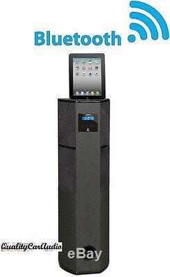 Haut-parleur Tour Pyle Phbt98pbk 600w Bluetooth Avec Station D'accueil Et Télécommande Pour Ipad / Iphone