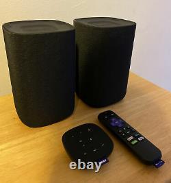 Haut-parleurs Bluetooth Sans Fil Roku Tv 9030x Avec Télécommande De Table Et Télécommande Vocale