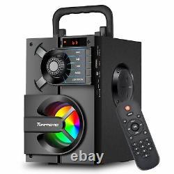 Haut-parleurs Sans Fil Radio Fm Portable Rgb Lumières Télécommande Bluetooth Périphérique