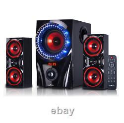 Home Theater Stereo Audio System Haut-parleurs Sonores Avec Bluetooth Usb Sans Fil À Distance