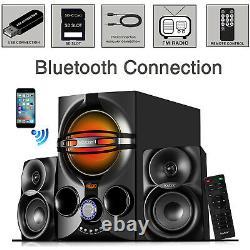 Home Théâtre Stereo Système Audio Bluetooth Haut-parleurs Son Sans Fil Usb Remote C