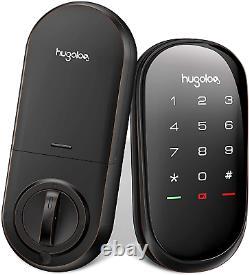Hugolog Smart Lock, Contrôle À Distance Sans Fil De Deadbolt À Écran Tactile Et Bluetooth Et