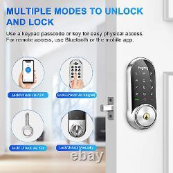 Hugolog Smart Lock Écran Tactile Deadbolt Télécommande Sans Fil Et Bluetooth