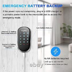 Hugolog Smart Lock, Touchscreen Deadbolt Remote Wireless Control & Bluetooth Et