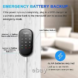 Hugolog Smart Lock Touchscreen Deadbolt Télécommande Sans Fil Et Clé Bluetooth
