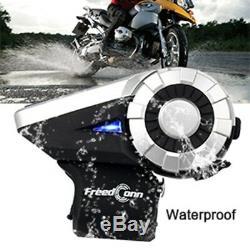 Intercom Moto 1500m Bt Bt Sans Fil Bluetooth 8 Voies Interphone T-rex + Télécommande