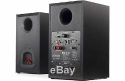 Klipsch R-15pm Enceintes Acoustiques Ebony 2 Voies Avec Bluetooth Et Télécommande Cont B Stock