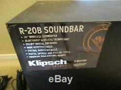 Klipsch R-20b Bluetooth Soundbar Avec 10 Pouces Boîte Subwoofer Sans Fil À Distance 10