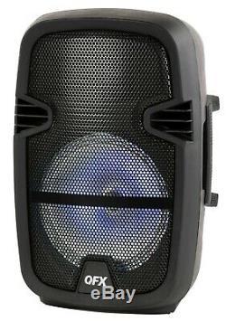 Led Portable Sans Fil Avec Haut-parleur Bluetooth À Distance Microphone 4400 Watts Nouveau