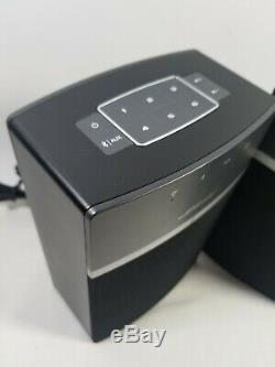 Lot De 2 Bose Soundtouch 10 Wireless Music Système 416776 Avec Télécommande