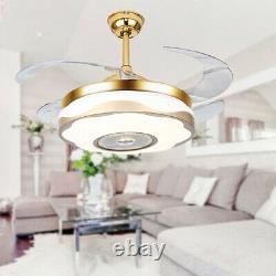 Lustre Fan 42 Télécommande Sans Fil Bluetooth + Ventilateur De Plafond Ventilateurs Lumière USA