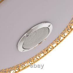 Lustre Moderne De Lumière Led De Ventilateur De 42 Plafond + Télécommande /bluetooth Sans Fil