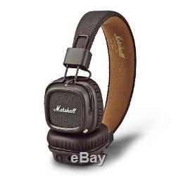 Marshall Major 2 II Casque Bluetooth Génération Casque Télécommande MIC Marron