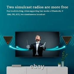 Mur Monté Bluetooth Wireless Tv Speaker Rgb Flush Musique Stereo Haut-parleur Remote