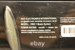 Nad Viso 1 Haut-parleur De Musique Ipod Dock Bluetooth Sans Fil Aucune Télécommande De Rechange Et De Réparation