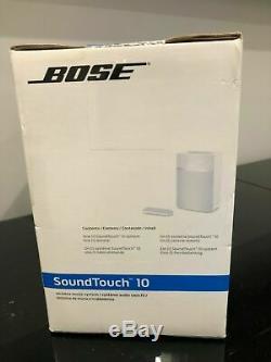 New Bose Soundtouch 10 Bluetooth Sans Fil Wi-fi Blanc Haut-parleur Alexa Avec Télécommande