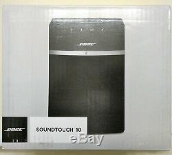 New Bose Soundtouch 10 Bluetooth Sans Fil Wi-fi Haut-parleur Noir Alexa Avec Télécommande