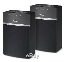 New Bose Soundtouch 10 Wi-fi Bluetooth Haut-parleurs 2 Pièces Avec Télécommande