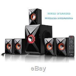 Nouveau Bluetooth 5.1 Home Cinéma Tv Parleurs Son Surround Fm Usb / Sd À Distance