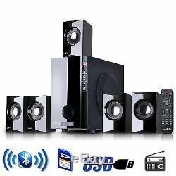 Nouveau Bluetooth 5.1 Home Theater Tv Surround Sound Système De Haut-parleurs Fm Usb / Télécommande Sd