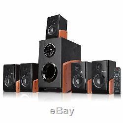 Nouveau Bluetooth 5.1 Système D'enceintes Home Cinéma Amplificateur Fm Radio Usb / Sd Et À Distance