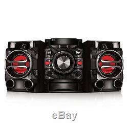 Nouveau Lg Bluetooth 2.1 230w Shelf Stéréo Système Lecteur CD Aux Usb Auto Dj À Distance