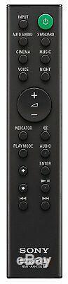 Nouveau Sony B / T 2 Ch Home Cinéma Slim Soundbar Subwoofer Hdmi Arc À Distance