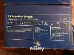 Onn 36 5.1 Soundbar Avec Caisson De Basses Sans Fil Boîte Ouverte (manquant À Distance)