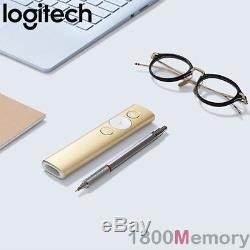 Original Logitech Spotlight Advance Présentateur À Distance Sans Fil Usb Bluetooth Or